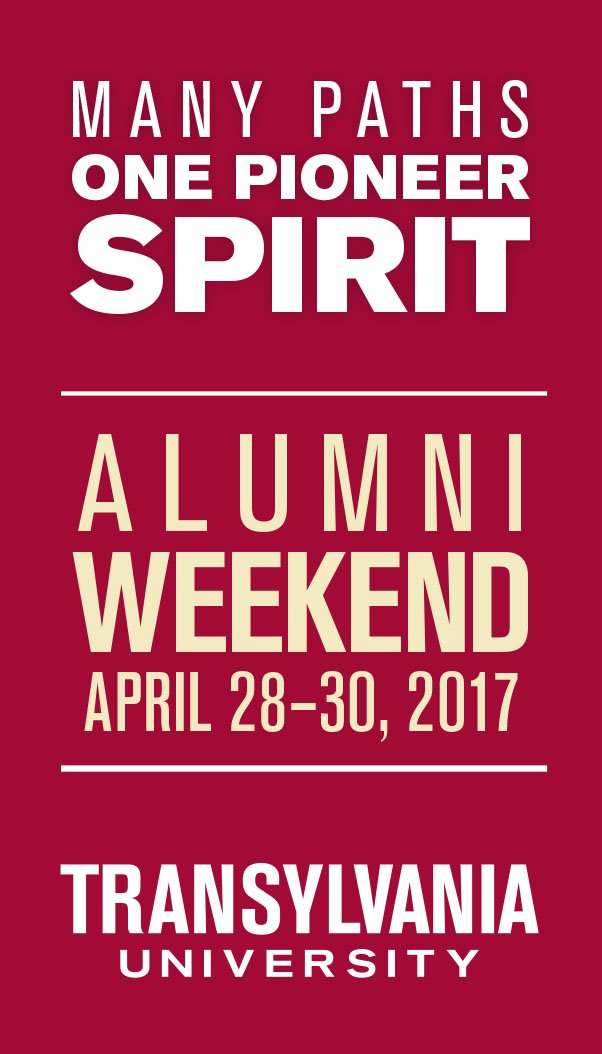 Save the Date for Alumni Weekend 2017